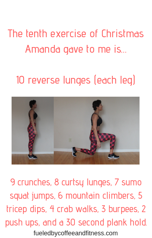 day 10 reverse lunges
