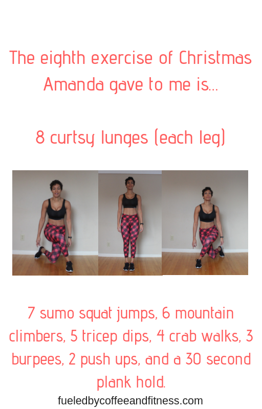 day 8 curtsy lunges