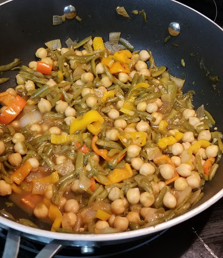 Vegan Orange Sesame Chickpea Stir Fry
